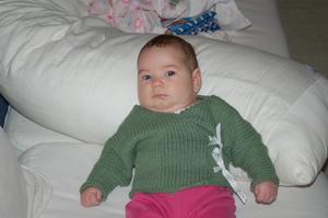 La La in Green Sweater